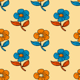 Flowers seamless pattern. Original design for print or digital media.
