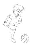 Fußball Ausmalbild
