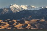 Sand dunes & Sangre de Cristo Mountains at sunrise;  Great Sand Dunes National Park;  Colorado