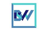 BW Square Ribbon Letter Logo - 198121701