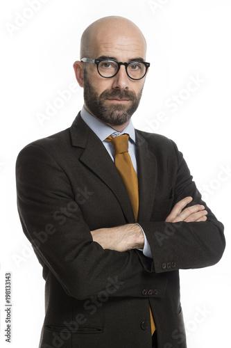 Foto Murales Uomo elegante con occhiale