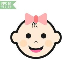baby face icon vector template