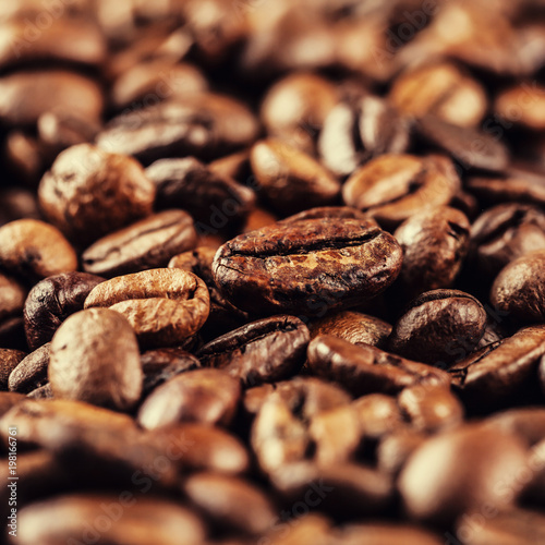roasted coffee beans - 198166761