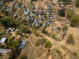 Aerial view of Nepane village near Kushma in Nepal