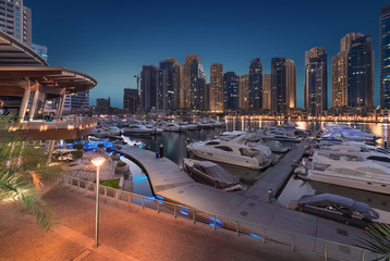 Dubai Marina Yacht Club at Sunset