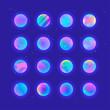 Neon gradient planets - 198185396
