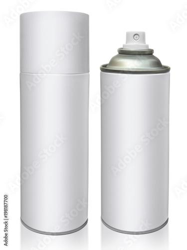 aerosol bottle isolated on white background