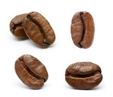 Coffee bean collection isolated on white background - 198198163
