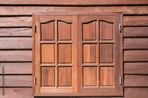 Foto Murales vintage wood window texture style on wood wall house