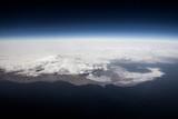 Insel aufgenommen aus einem Flugzeug