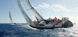 Sailing yacht regatta. Yachting. Sailing