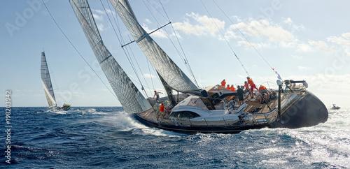 Fotobehang Zeilen Sailing yacht regatta. Yachting. Sailing