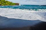 black sand beach in maui
