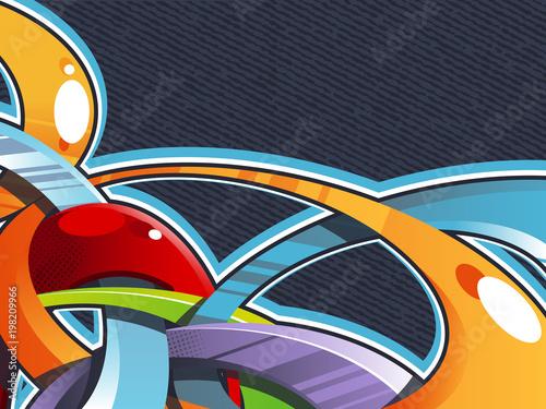 Fotobehang Graffiti Urban graffiti colorful vector background