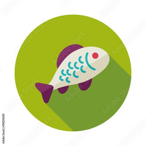 Fototapeta Fish vector icon