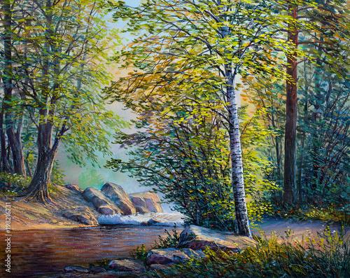 oil-painting-landscape-summer-forest