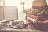 Travel suitcase prepareing concept - 198217195