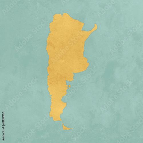 Sticker Carte texturée de l'Argentine