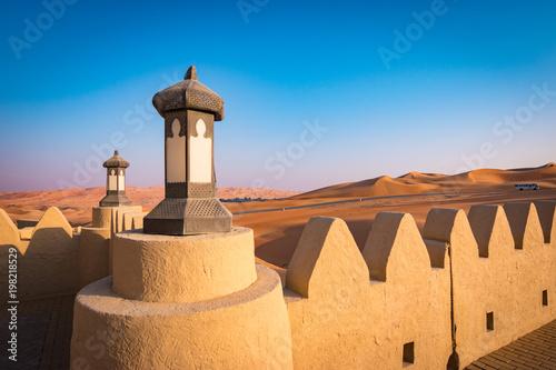 Fotobehang Abu Dhabi Desert resort entrance, Abu Dhabi
