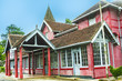 old victorian Post Office in the hilly town of Nuwara Eliya in Sri Lanka - 198220922