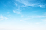 Clear blue sky and white clouds © 1xpert
