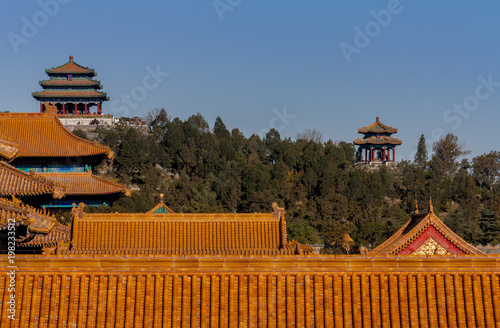 Foto op Plexiglas Peking Jingshan Park seen from forbidden city Beijing