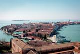 San Giorgio Maggiore. Venice, Italy. Beautiful old town on island and azure lagoon of Adriatic Sea.