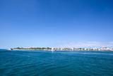 Tropical island Isla Mujeres in caribbean sea near Cancun