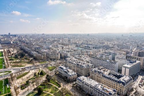 Fotobehang Parijs aerial paris