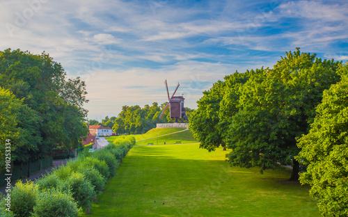 Foto op Canvas Brugge Summer evening in Brugge