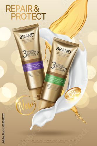Hair smooth treatment ads
