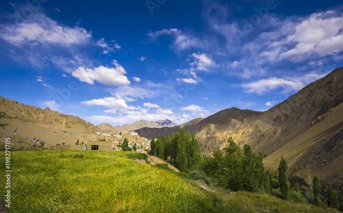 Landscape scenery view at Leh Ladakh India.