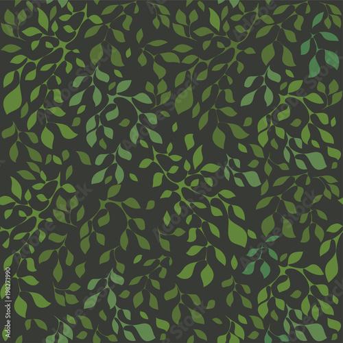 Staande foto Lelietje van dalen Leaves foliage seamless pattern vector.