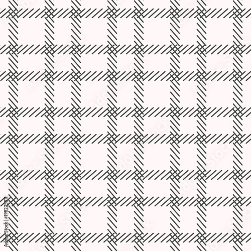 Black and white cage seamless pattern. vector - 198275911