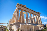 Parthenon temple on a sunny day. Acropolis in Athens, Greece - 198276731
