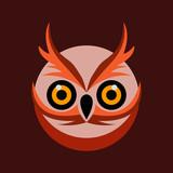 owl bird illustration logo template