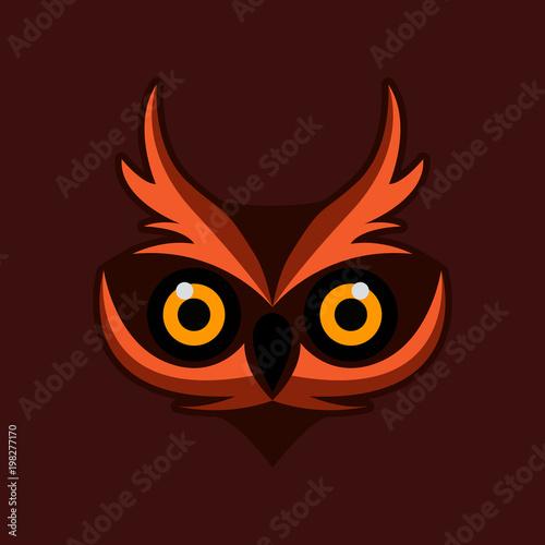 Keuken foto achterwand Uilen cartoon owl bird illustration logo template