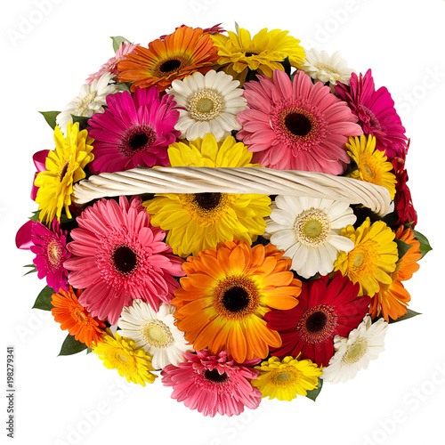 Aluminium Gerbera Basket of flowers