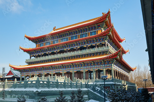 Fotobehang Peking Chinese classical architecture of buddhist temples.