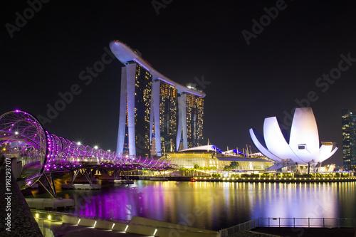 Singapur, Marina, Helix Brücke