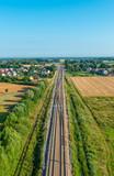 Fototapeta Forest - Tory kolejowe - widok z góry © Kamil_k2p