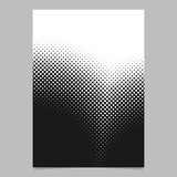 Halftone circle pattern background poster template - vector graphic design from dots