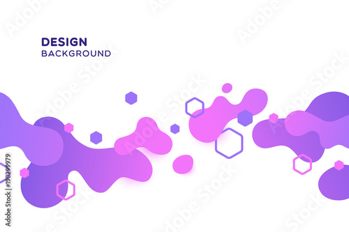 Abstract backgrounds with a colored dynamic spots. Vector illustrations.