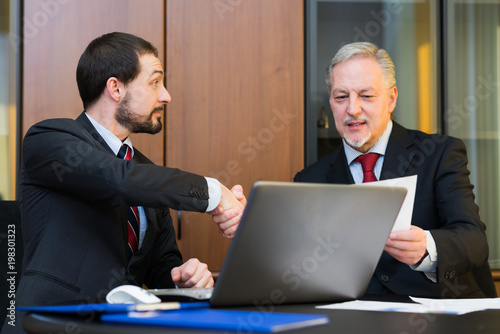 Business people sealing a deal