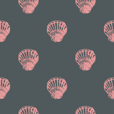 Seamless pattern with seashells. Vector illustration