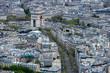 triumph arc Paris night view from tour eiffel