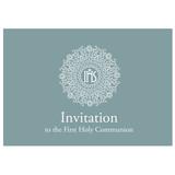 first communion invitation template - 198317963