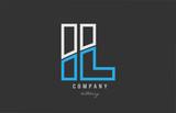 white blue alphabet letter ab a b logo icon design