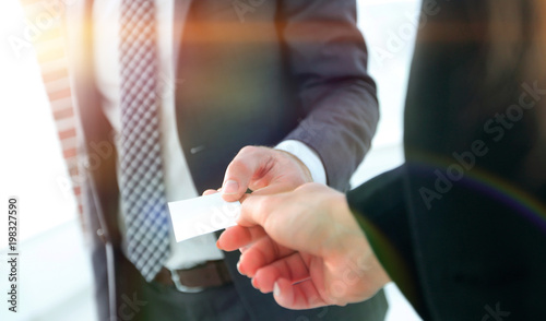 Exchange business card for first time meet © FotolEdhar