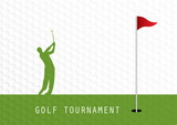 Golf tournament invitation flyer template graphic design